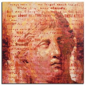 Handgeschilderde Olieverf schilderij Alexander 120x120cm
