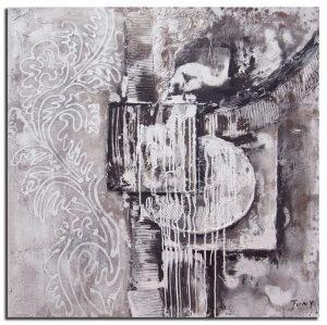 Handgeschilderde Olieverf schilderij Abstract 100x100cm