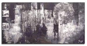 Handgeschilderde Olieverf schilderij Abstract 140x60cm