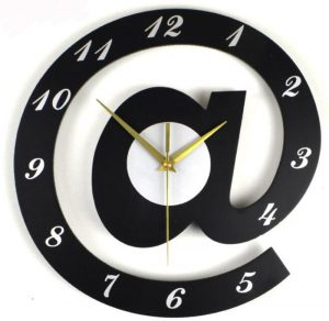 @ Letter Shape Hanging Wall Clock 3D Digital Wall Clock Decor Big Silent Clock Acrylic Home Wall Decor