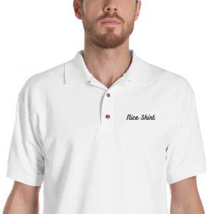 Nice Shirt Embroidered Polo Shirt